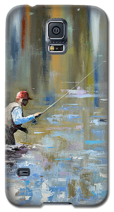 Flyfishing Galaxy S5 Case featuring the painting Great Expectations by Glenn Secrest