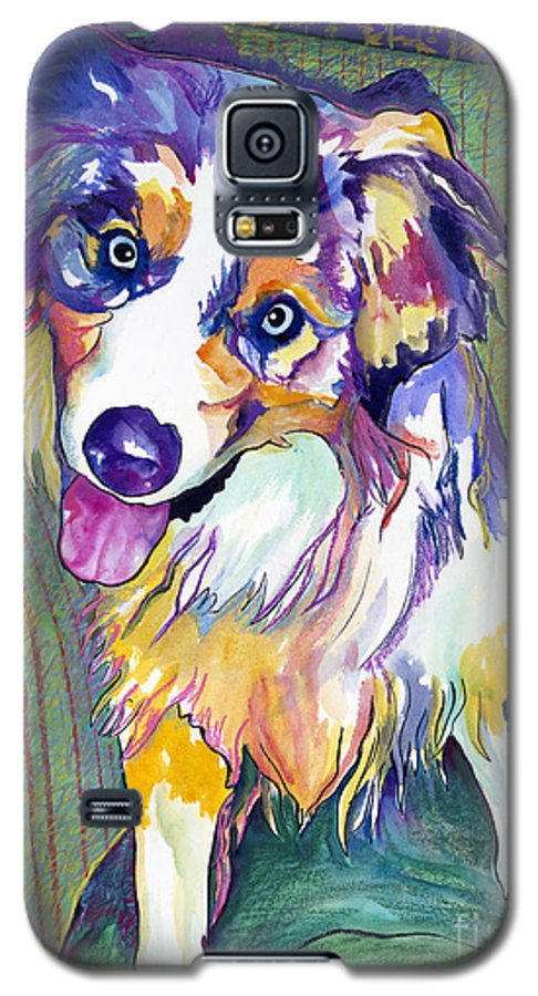 Pat Saunders-white Galaxy S5 Case featuring the painting Green Couch  by Pat Saunders-White