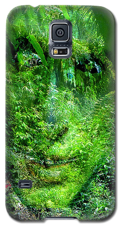 Nature Galaxy S5 Case featuring the digital art Green Man by Seth Weaver