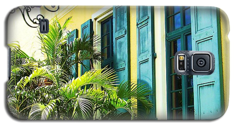 Architecture Galaxy S5 Case featuring the photograph Green Shutters by Debbi Granruth