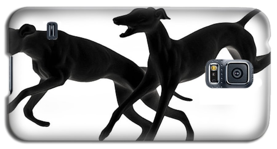 Greyhounds Galaxy S5 Case featuring the photograph Greyhounds Travelling At 45 Mph by Christine Till