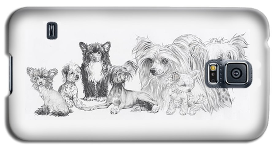 Toy Group Galaxy S5 Case featuring the drawing Growing Up Chinese Crested And Powderpuff by Barbara Keith