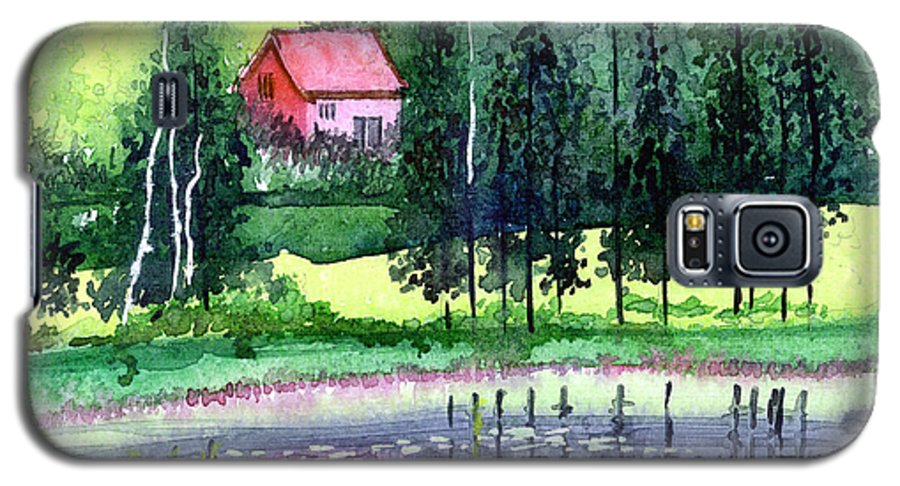 Landscape Galaxy S5 Case featuring the painting Guest House by Anil Nene