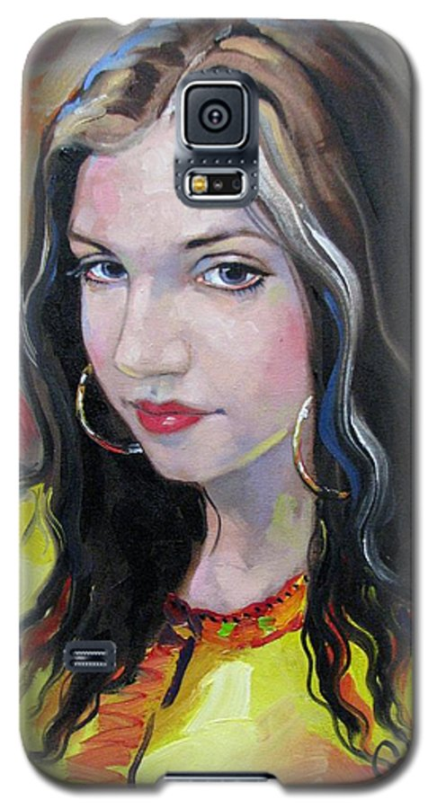 Gypsy Galaxy S5 Case featuring the painting Gypsy Girl by Jerrold Carton