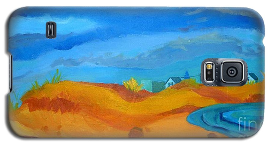 Ocean Galaxy S5 Case featuring the painting Hampton Dunes by Debra Bretton Robinson