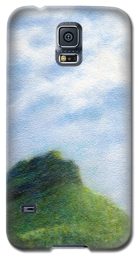 Rainbow Colors Pastel Galaxy S5 Case featuring the painting Hanakapia Beach View by Kenneth Grzesik