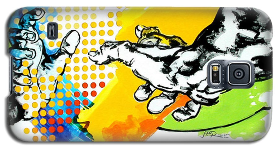 Classic Galaxy S5 Case featuring the painting Hands by Jean Pierre Rousselet