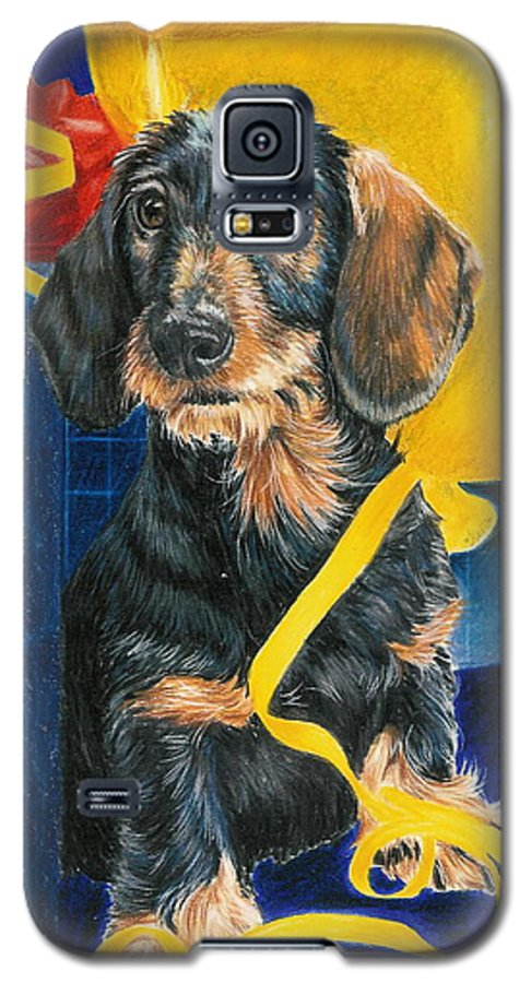 Dogs Galaxy S5 Case featuring the drawing Happy Birthday by Barbara Keith