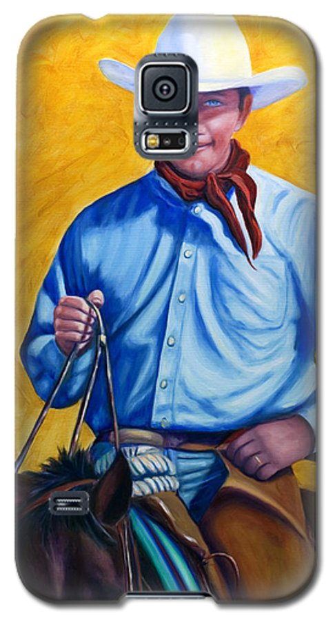 Cowboy Galaxy S5 Case featuring the painting Happy Trails by Shannon Grissom