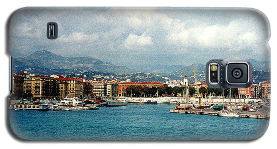 Landscape Galaxy S5 Case featuring the photograph Harbor Scene In Nice France by Nancy Mueller