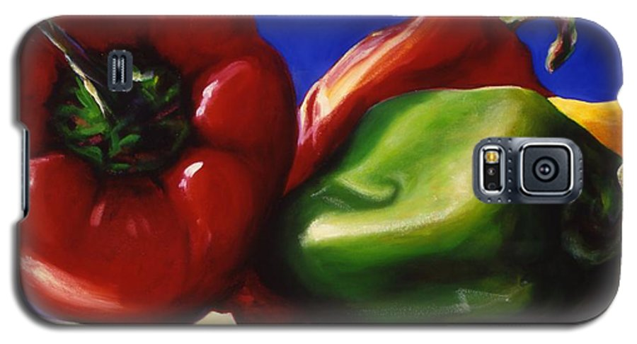 Still Life Galaxy S5 Case featuring the painting Harvest Festival Peppers by Shannon Grissom