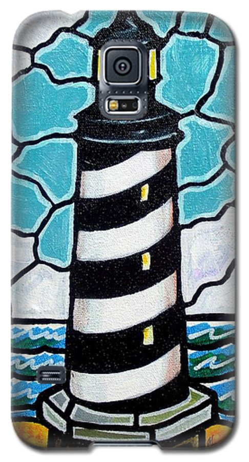 Lighthouse Galaxy S5 Case featuring the painting Hatteras Island Lighthouse by Jim Harris
