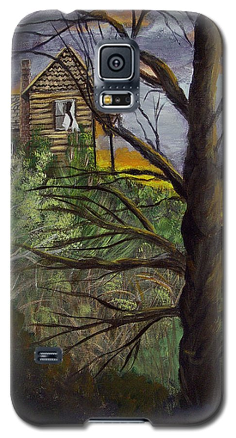 House Galaxy S5 Case featuring the painting Haunted House by Quwatha Valentine