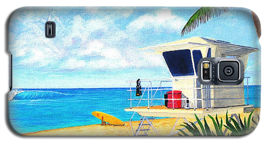 Hawaii Galaxy S5 Case featuring the painting Hawaii North Shore Banzai Pipeline by Jerome Stumphauzer