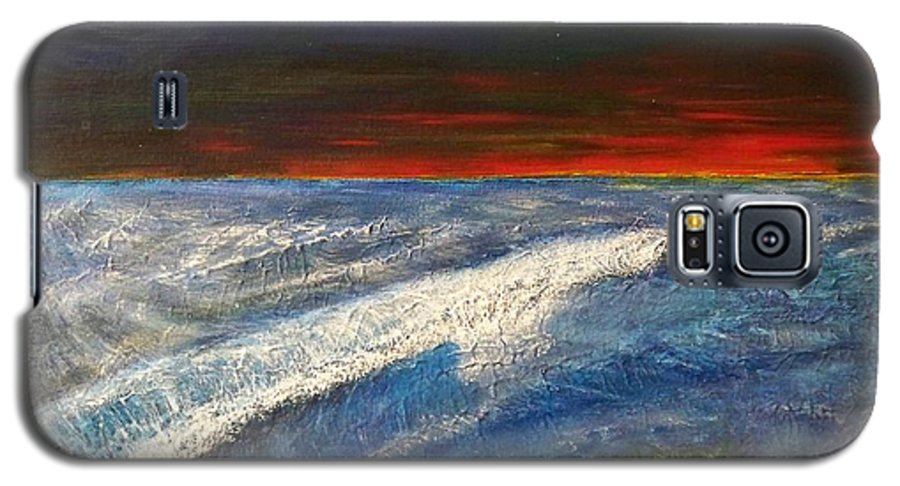 Beaches Galaxy S5 Case featuring the painting Hawiian View by Michael Cuozzo