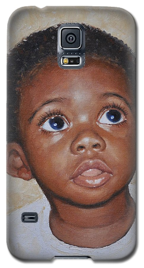 Portaits Galaxy S5 Case featuring the painting He Is Coming by Iliyan Bozhanov