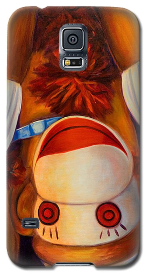 Children Galaxy S5 Case featuring the painting Head-over-heels by Shannon Grissom