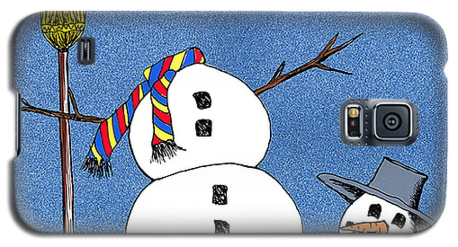 Snowman Galaxy S5 Case featuring the digital art Headless Snowman by Nancy Mueller