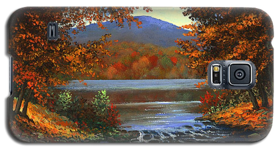 Landscape Galaxy S5 Case featuring the painting Headwaters by Frank Wilson