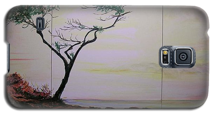 Sunrise Galaxy S5 Case featuring the painting Health Wealth And Benevolence by Lizzy Forrester