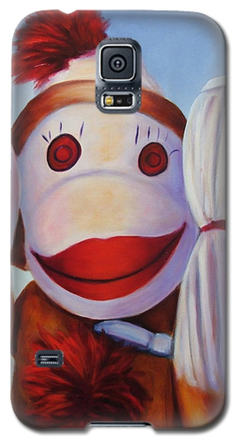 Children Galaxy S5 Case featuring the painting Hear No Bad Stuff by Shannon Grissom