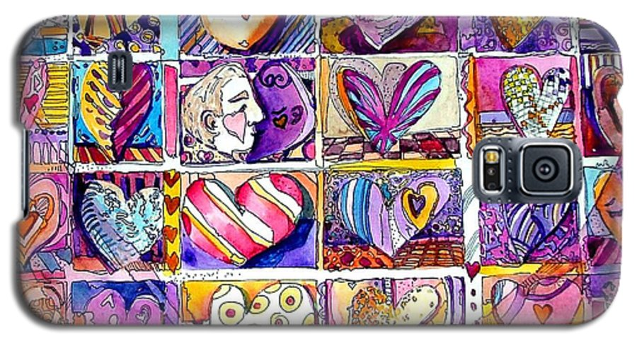 Love Galaxy S5 Case featuring the painting Heart 2 Heart by Mindy Newman