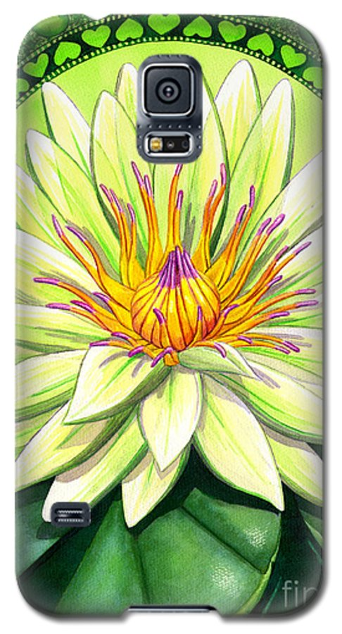 Heart Galaxy S5 Case featuring the painting Heart Chakra by Catherine G McElroy