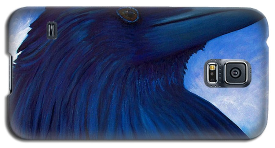 Raven Galaxy S5 Case featuring the painting Heaven Bound by Brian Commerford