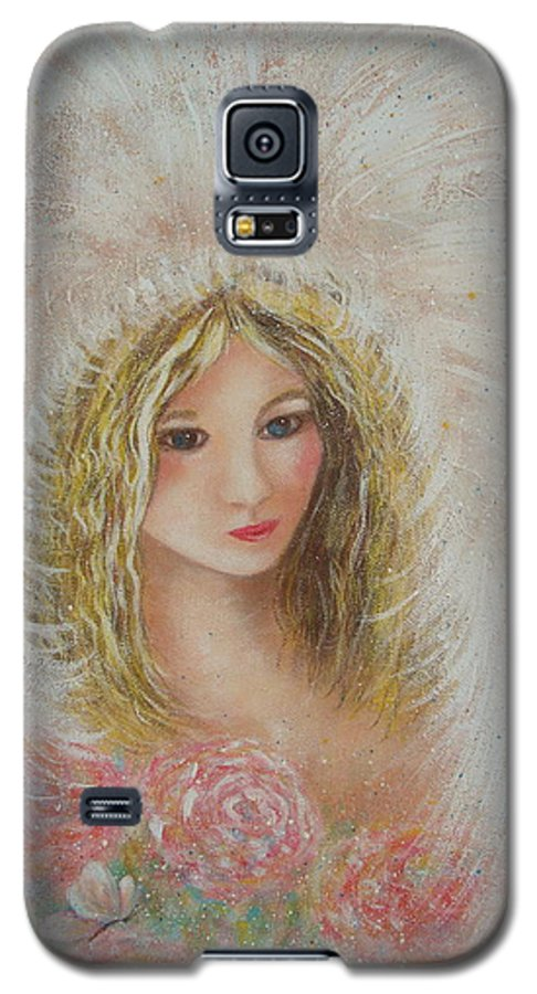 Angel Galaxy S5 Case featuring the painting Heavenly Angel by Natalie Holland