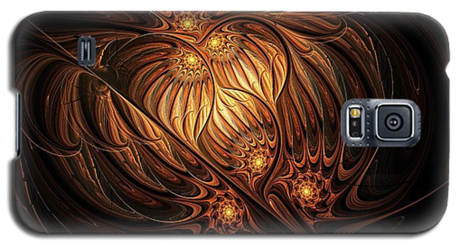 Digital Art Galaxy S5 Case featuring the digital art Heavenly Onion by Amanda Moore