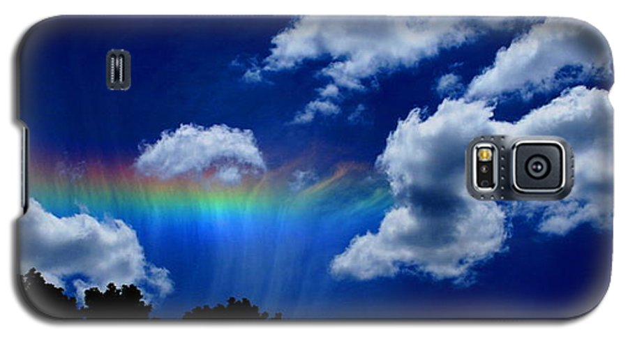Heavens Rainbow Galaxy S5 Case featuring the photograph Heavens Rainbow by Linda Sannuti