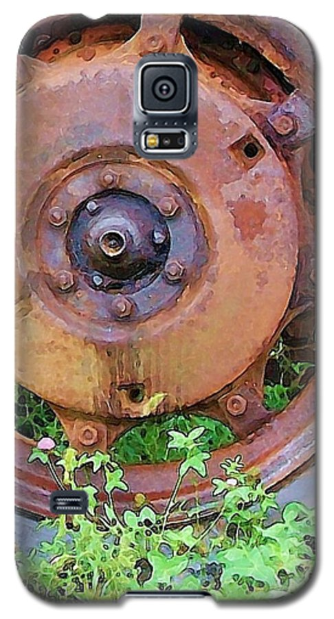Rust Galaxy S5 Case featuring the photograph Heavy Metal by Debbi Granruth
