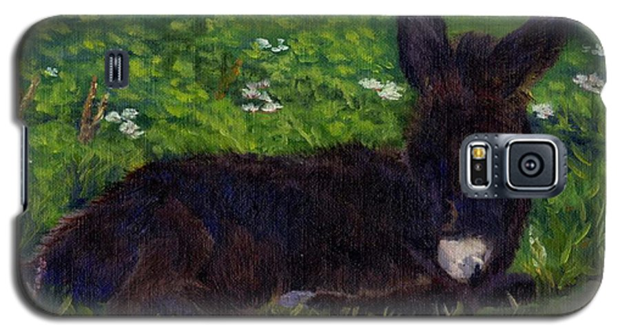 Donkey Galaxy S5 Case featuring the painting Hercules by Sharon E Allen