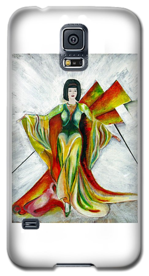 Dress Galaxy S5 Case featuring the painting Here Comes The Sun by Tom Conway