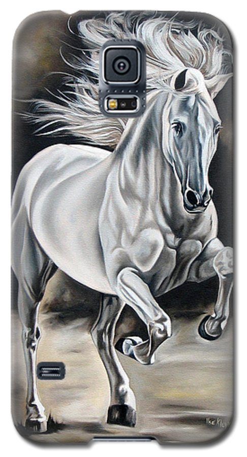 Horse Galaxy S5 Case featuring the painting Hereje by Ilse Kleyn