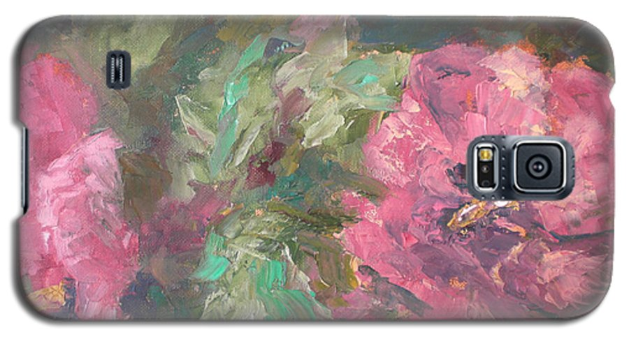 Oil Galaxy S5 Case featuring the painting Hibiscus by Lou Ewers