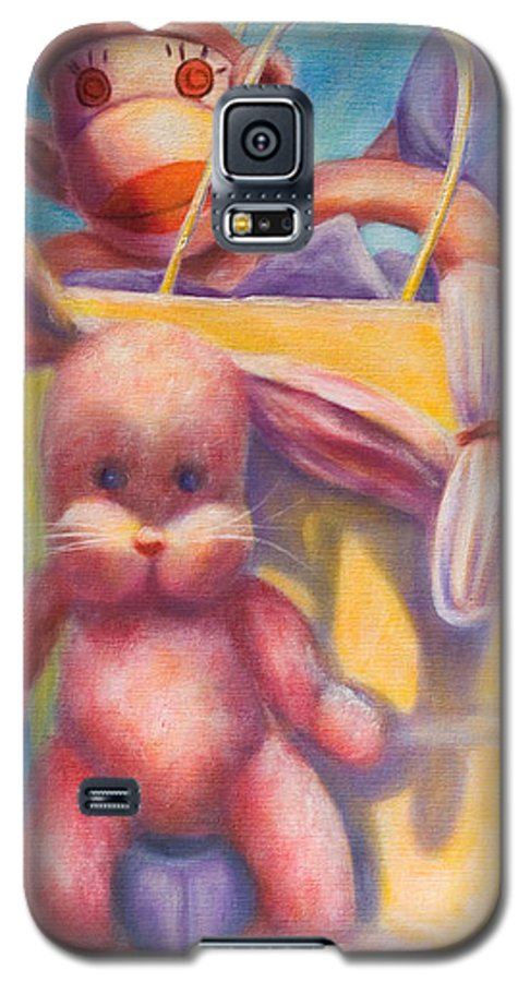 Children Galaxy S5 Case featuring the painting Hide And Seek by Shannon Grissom