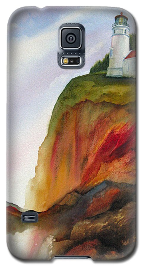Coastal Galaxy S5 Case featuring the painting High Ground by Karen Stark