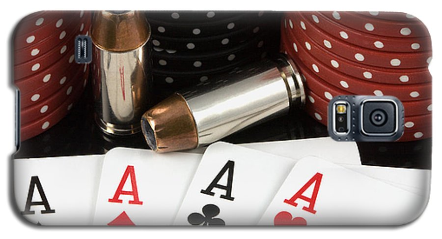 Aces Galaxy S5 Case featuring the photograph High Stakes Poker by Al Mueller