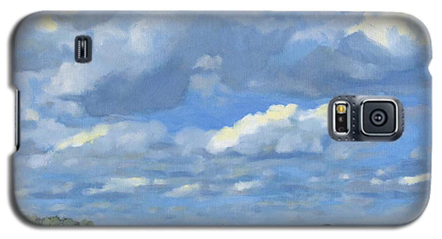 Landscape Galaxy S5 Case featuring the painting High Summer by Bruce Morrison