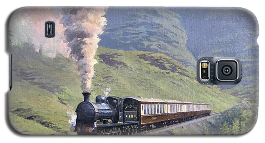 Steam Galaxy S5 Case featuring the painting Highland Steam by Richard Picton