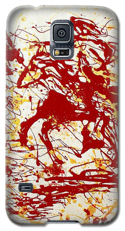 Indian Galaxy S5 Case featuring the painting History In Blood by J R Seymour