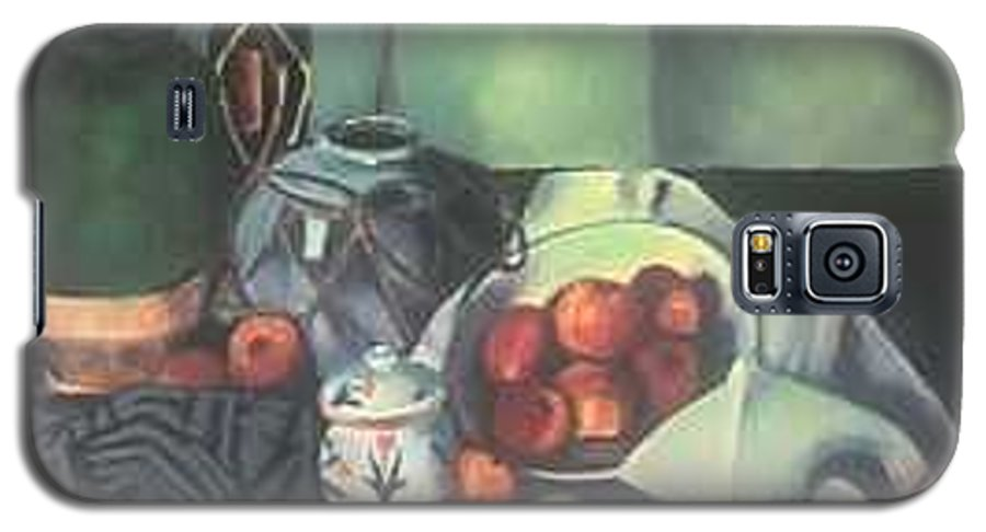 Still Life With Apples Galaxy S5 Case featuring the painting Homage To Cezanne by Steven Casey
