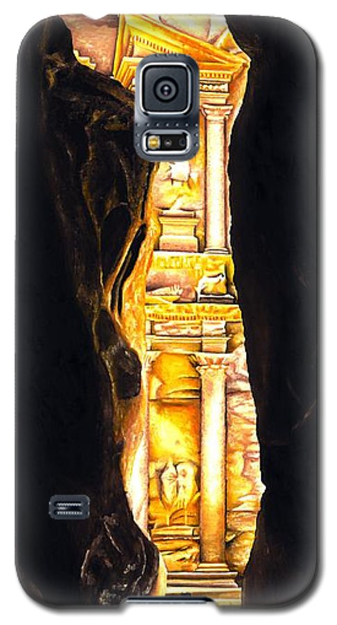 Bellydancer Galaxy S5 Case featuring the painting Homage To Petra by Richard Young