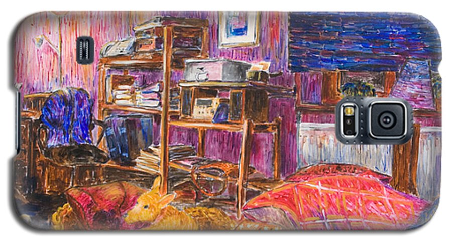 Dogs Galaxy S5 Case featuring the painting Home Alone by Nik Helbig