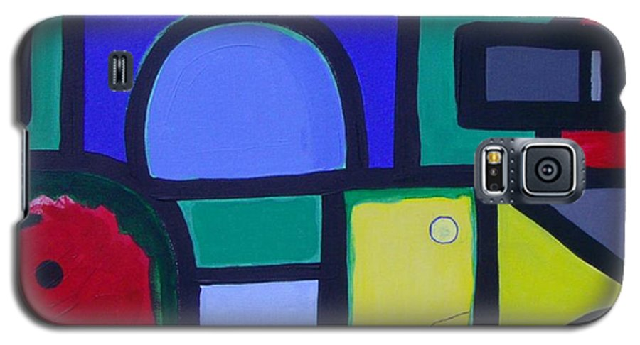 Street Galaxy S5 Case featuring the painting Hommage A Mark Rothko by Michael Puya
