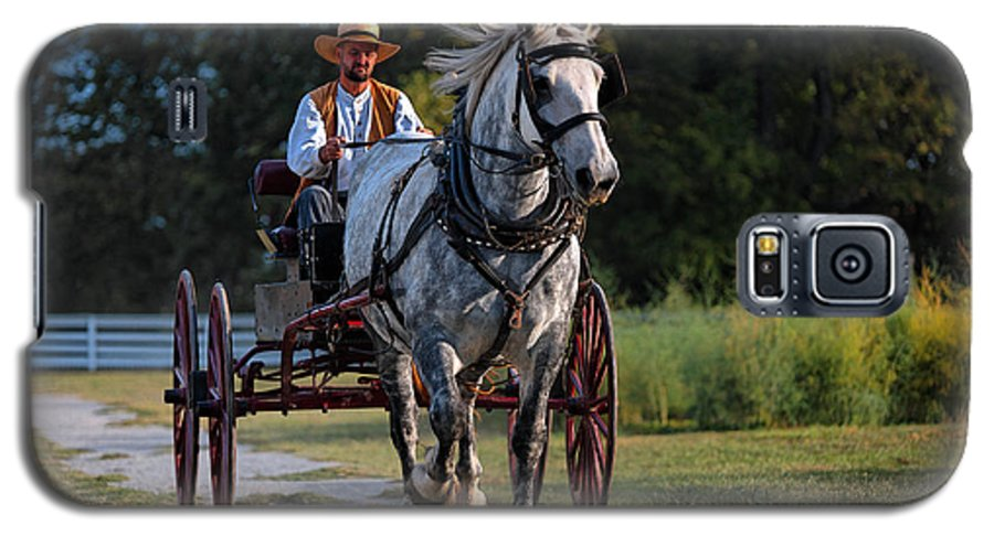 Horse Galaxy S5 Case featuring the photograph Horse And Buggy by Lone Dakota Photography