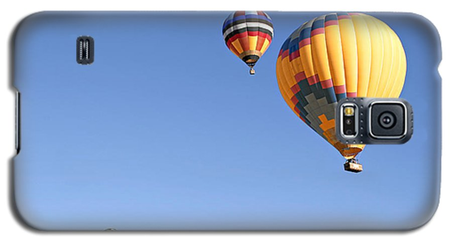 Balloons Galaxy S5 Case featuring the photograph Hot Air Balloon Ride A Special Adventure by Christine Till