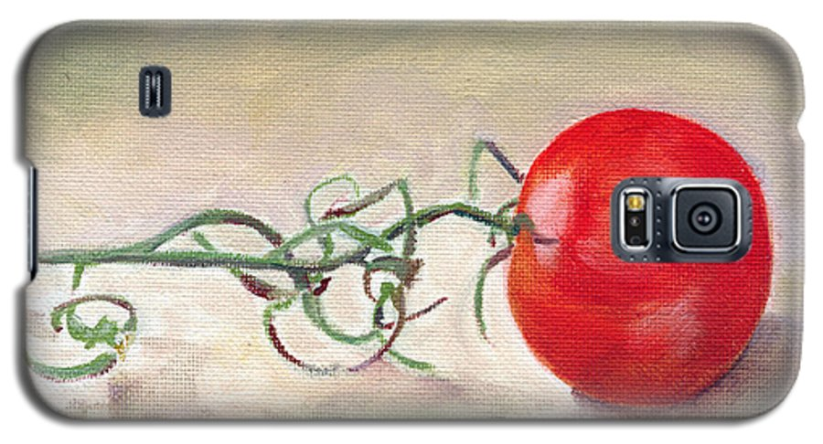 Food Galaxy S5 Case featuring the painting Hot-house Tomato by Sarah Lynch