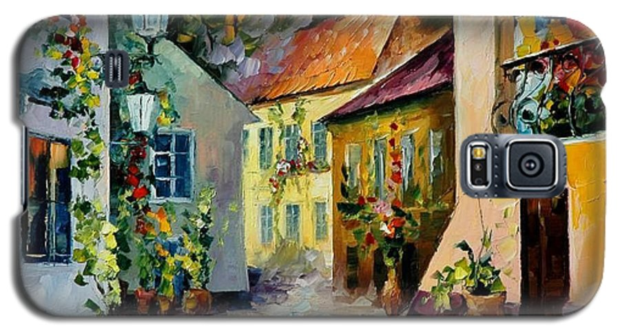 Landscape Galaxy S5 Case featuring the painting Hot Noon Original Oil Painting by Leonid Afremov